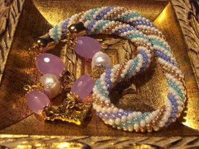 Oliva e sfera capricho piu' collana crochet beads.wmv