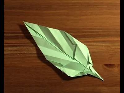 Origami feuille leaf