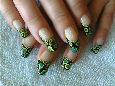 Pebble french nail art tutorial