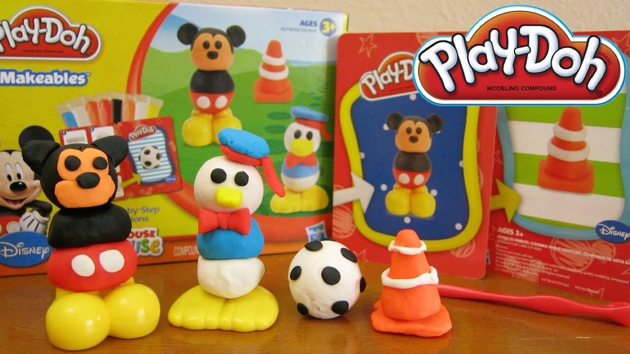 Play-Doh Disney Makeables Set Featuring Mickey Mouse & Donald Duck by Hasbro Toys!
