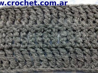 Punto Alto Triple en tejido crochet tutorial paso a paso.