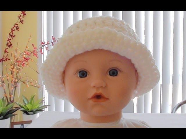 Quick Crochet Baby Hat with Brim - Crochet Baby Hat