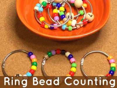 Ring Bead Counting Math Activity For Preschool and Kindergarten