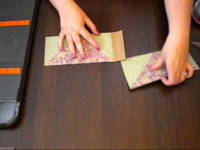 Scrapbook Tutorial: Diagonal Pocket Page for Mini Albums