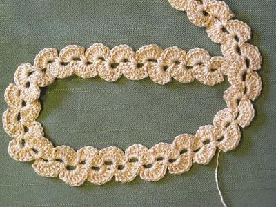 SPITZENBORDÜRE *Einfache Spitze häkeln*Lace crochet Tutorial Handarbeit DIY