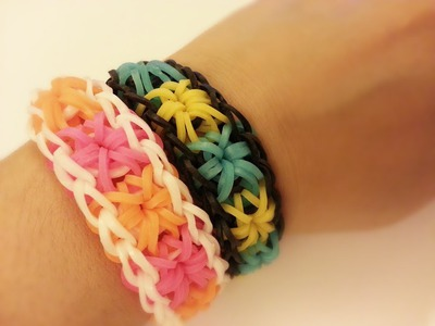 Starburst DIY Colorful Loom Bracelet Tutorial ~ How To