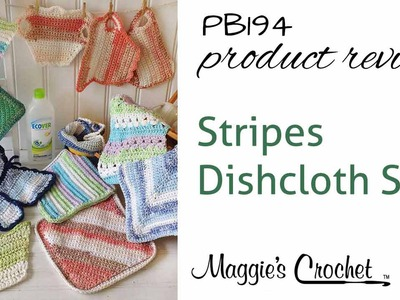 Stripes Dishcloth Set Crochet Pattern Product Review PB194
