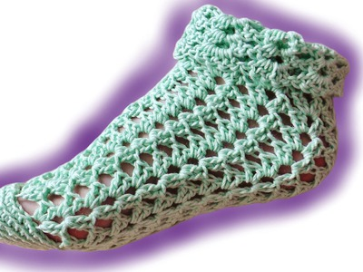 Summer socks advanced crochet tutorial for lefthanded