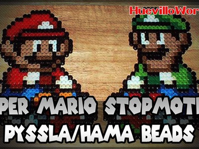 Super Mario creado en Pyssla.Hama Beads