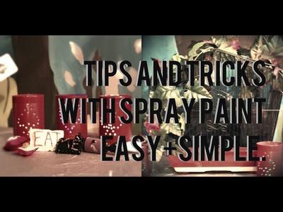 Tip & tricks with spray paint. DIY Alice in wonderland crafts.