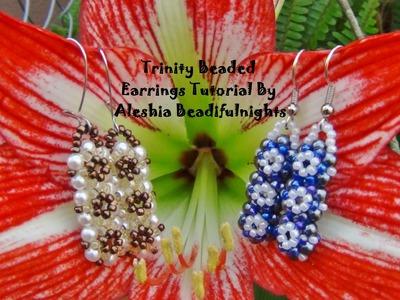 Trinity Beaded Earrings Tutorial