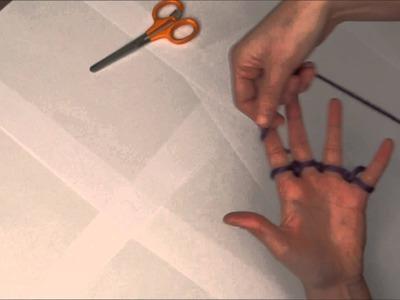 Vingerpunniken. Finger knitting