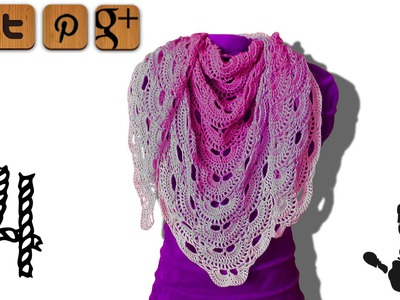 Virus shawl crochet tutorial part 4 - © Woolpedia