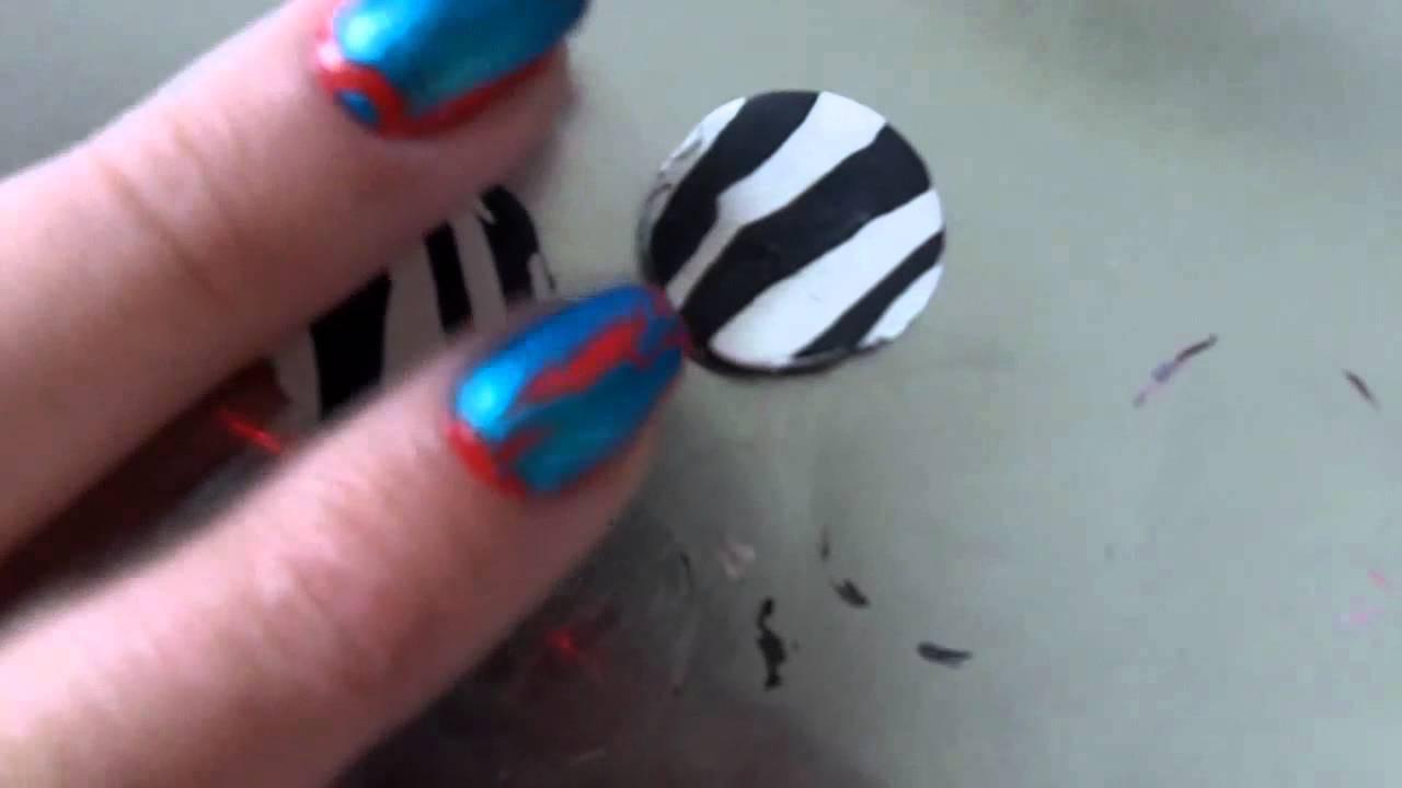 Zebra Beads- Polymer Clay Tutorial (+Craft!)