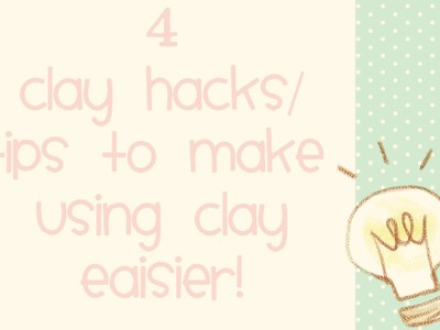 4 Clay hacks that will make crafting with polymer clay so much easier! Nicole's Lil' Things