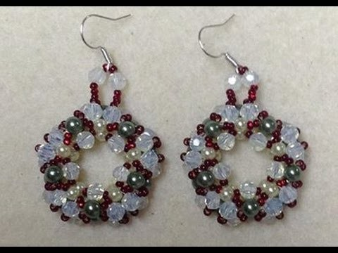 Christmas Wreath Earrings Tutorial