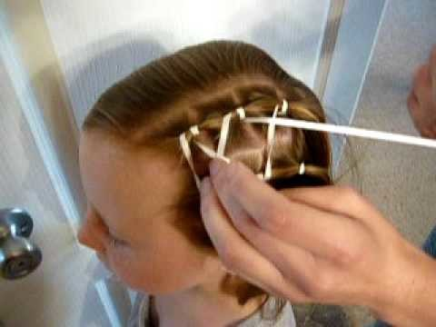 Criss Cross Ribbon Hairstyle