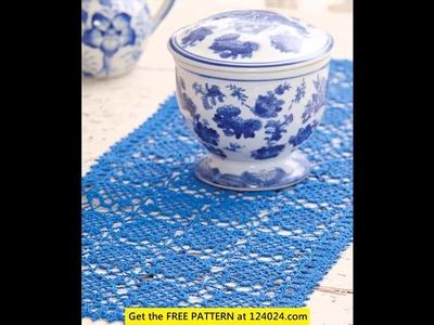 Crochet tablecloth easy