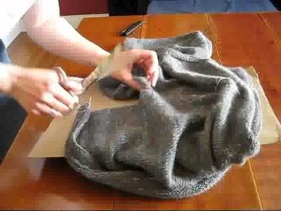 Cutting a Steek on a Twisted Sweater