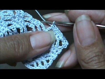 Diamond Lace Stitch part 2