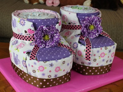 Diaper Cake Baby Booties (How To Make)