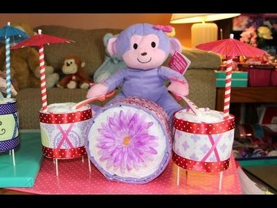 Diaper Cake Drum Set (How To Make)