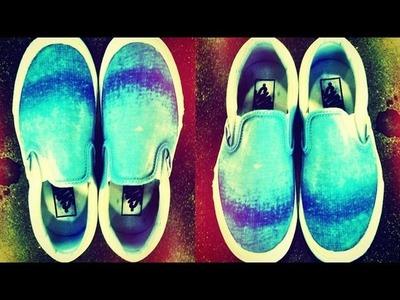 DIY Fashion | Easy Ombre Slip-on Sneakers | Designer DIY