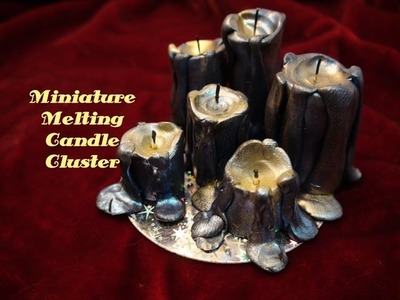 DIY: Miniature Melting Candle Cluster With Polymer Clay