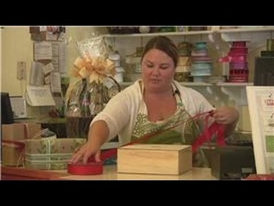 Gift Wrapping Tips : How to Tie a Ribbon Around a Box