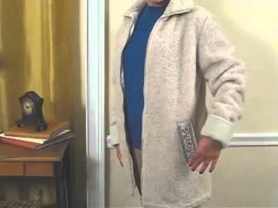 Haband Ladies Berber Jacket, Cable Sweater, & Corduroy Slacks