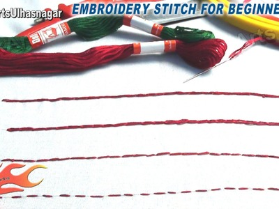 Hand Embroidery stitch for beginners (#2) JK Arts 552