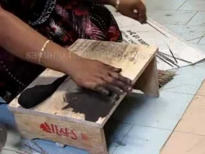 Handrolled Raw Incense Stick making