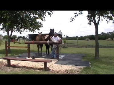 Horse Scared of Saddle Blanket & Plastic Bag or Stupid Human- Crazy Horse Man Messes with Kid