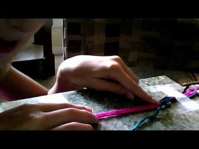 How to cross stitch with yarn