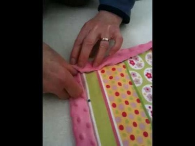 How to do corners on a minky blanket