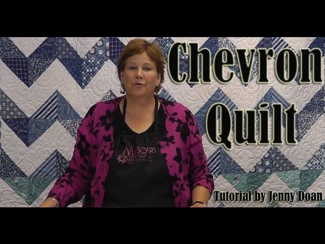 "How to make a Chevron Quilt using 10"" Fabric Squares"