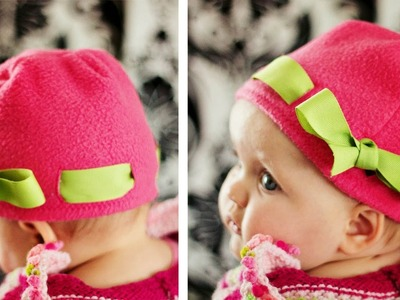 How to make a Fleece Hat with Ribbon