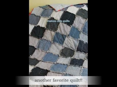 How to make a Jean Rag Quilt
