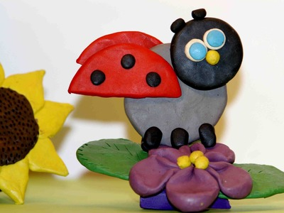 How to Make a Ladybird of plasticine. Polymer clay crafts. Plasticine art.