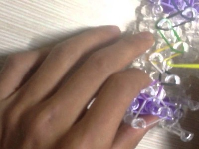 How to Make a Rainbow Loom Bracelet(Single) with Colorful Rubber Bands - Easy & Quick!