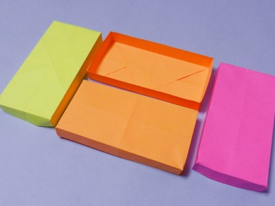 How to make a Rectangular Paper Box (Origami)