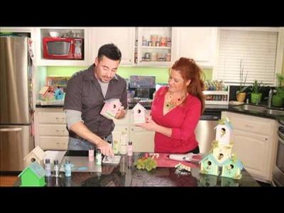 How To Make A Shabby Birdhouse Condo From Plaid Craft TV