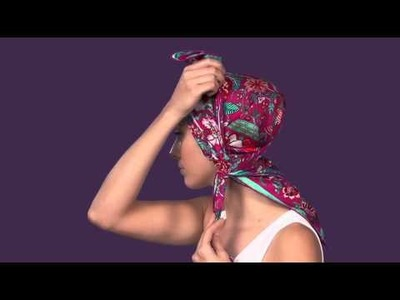 How To Tie A Scarf - Scarf Styling Guide: The Boho Head Wrap