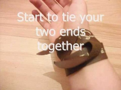How to tie a Taylor Swift Leather Bracelet.