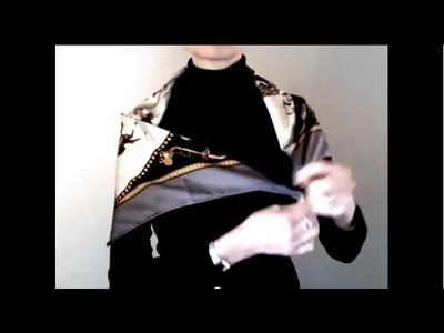 How-to wear scarves - Hermes scarf in a shoulder wrap