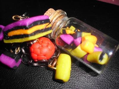 Liquorice Allsorts jewellery (Polymer Clay )