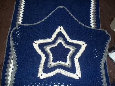 LIVE TUTORIAL: Cowboys Blanket and Bag