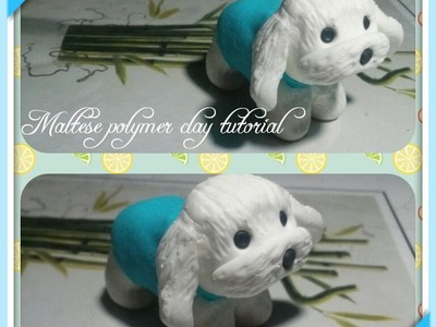 Miniature Maltese dog tutorial- Polymer clay tutorial.Easy. DIY