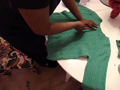 NO SEW TUTORIAL : TURN A SHIRT OR SWEATER TURTLENECK INTO A CARDIGAN