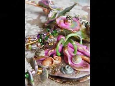 OOAK Polymer Clay Necklace by Kastina - Ogrlica od polimerne gline